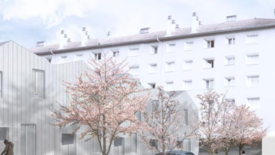 le parc de la résidence Mouillard à Lyon 9ème (69)