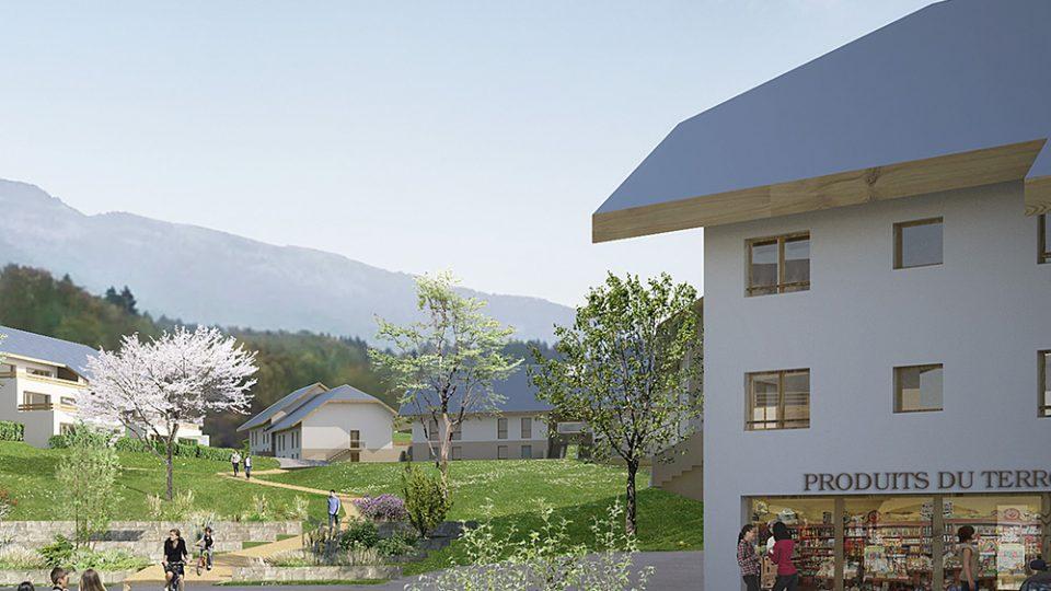 coeur de village à Viuz-la-Chiesaz (74)
